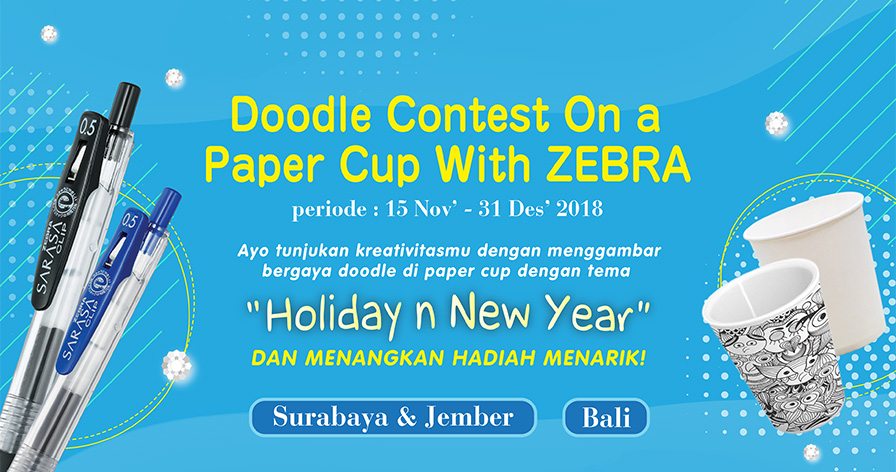 Doodle Contest On a Paper Cup With ZEBRA
